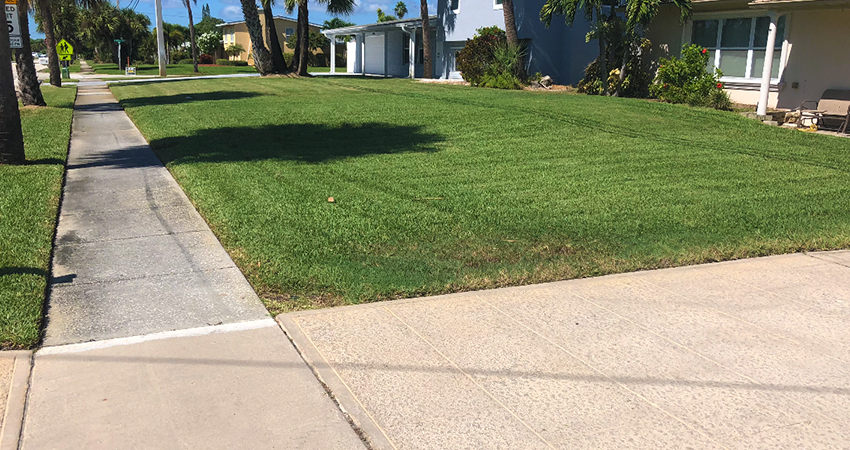 beachside lawn care residential lawn maintenance