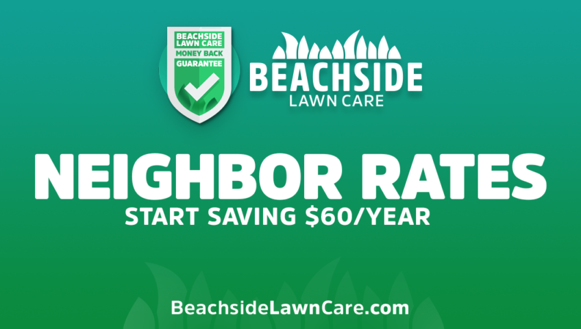 beachside lawn care neighbor rates