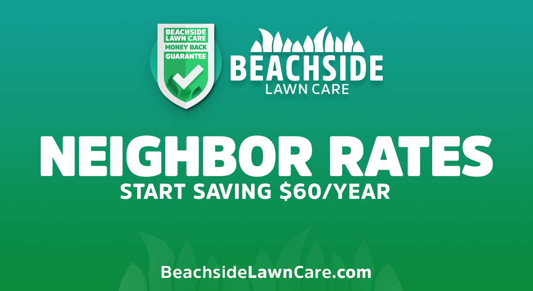 beachside lawn care neighbor rates