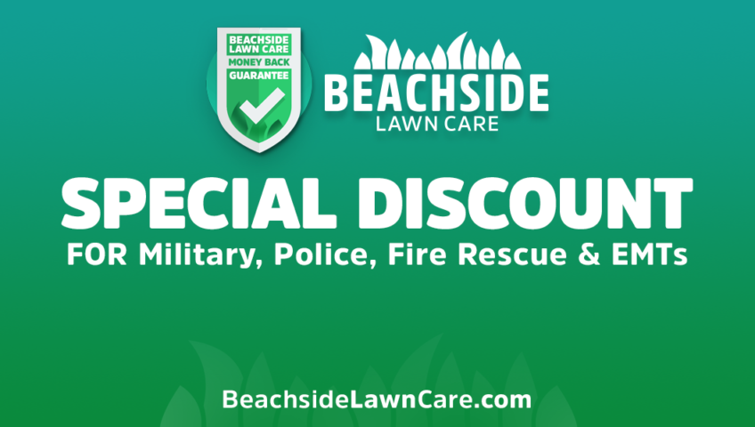 beachside lawn care special discounts